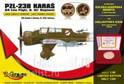 480002 Mirage Hobby 1/48 PZL-23B Karas '64. Line Flight, 6 Air Regiment (The Collector's Coin Inside)
