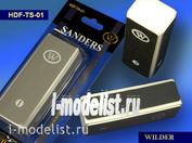 TS-01 Wilder Пилка наждачная на мягкой основе, брусок, четыре рабочих поверхности, четыре степени зернистости.