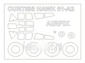 72529 KV Models 1/72 Набор окрасочных масок для остекления модели Curtiss Hawk 81-A-2 + маски на диски и колеса