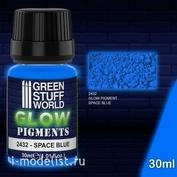 2432 Green Stuff World Пигмент светящийся в темноте космический синий 30 мл / Glow in the Dark - SPACE BLUE