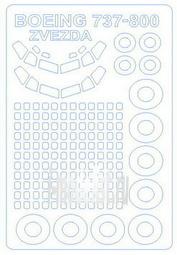 14371 KV Models 1/144 Маски на Boing 737 -800 + маски на диски и колеса