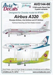 AVD144-08 Begemot 1/144 Decals & mask for Airbus A320