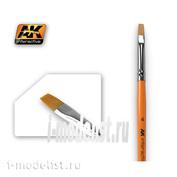 AK610 AK Interactive FLAT BRUSH 4 SYNTHETIC (плоская синтетическая кисть)