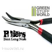 1062 Green Stuff World Изогнутые длинные плоскогубцы / Bent Long Nose Plier