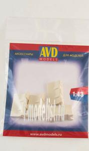 AVD143002704 AVD Models 1/43 Барьер белый, 4 шт