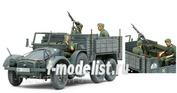 35317 Tamiya 1/35 Нем. грузовик 6X4 Krupp Protze (Kfz.70) (3 фигуры, пулемет Mg34)