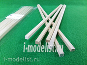 5148 Svmodel Slats 6x6 mm-length 300 mm-basswood - 6 PCs