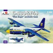 1425 Amodel 1/144 C-130&F4J 'Blue Angel' Aerobatic team