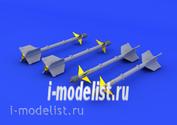 Eduard 672037 1/72 photo etched parts for AIM-9M/L Sidewinder