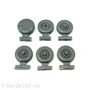 43051 GunTower Models UAZ wheels (rubber KAMA 219), 6 pcs