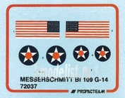 72037 Propagteam 1/72 Messerschmitt Bf 109 G 14 / marking U.S.AF