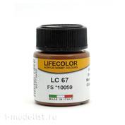 LC67 LifeColor Краска акриловая BROWN FS *10059