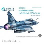 QD32009 Quinta Studio 1/32 3D Cabin Interior Decal Mirage 2000C (for Kitty Hawk model)