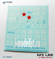 35028 ColibriDecals 1/35 Decal for M3 Lee in red Army.   Part II