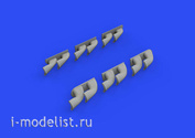 632139 Eduard 1/32  Набор дополнений P-40 выхлопные патрубки fishtail