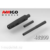 AMG48209 Amigo Models 1/48 Стволы авиационных пушек Н-37Д и НР-23 самолетов МиGG-15, МиGG-17