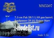 MM3507 Magic Models 1/35 7.5 cm barrel Pak 39/1 L/48. Jagdpanzer 38(t) Hetzer-Zvezdar. Trumpeter