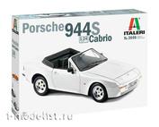 3646 Italeri 1/24 Автомобиль PORSCHE 944 S Cabrio