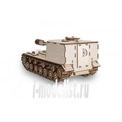 1-06 EWA Коллекционная механическая модель из древесины Танк САУ Объект 212