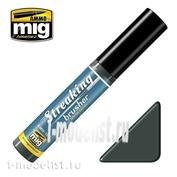 AMIG1255 Ammo Mig STREAKINGBRUSHER WINTER GRIME (Краска с тонкой кистью аппликатором)