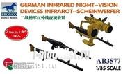 AB3577 Bronco 1/35 German Infrared Night Vision Devices Infrarot Scheinwerfer