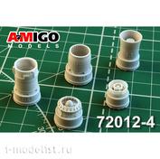 AMG72012-4 Amigo Models 1/72 MiGG-21BIS / MiGG-21-93 Jet Nozzle engine P25-300