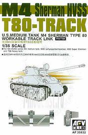 AF35032 AFVClub 1/35 Scale tracks for Sherman M4 HVSS T-80
