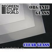 1429 Green Stuff World Glass Imitation Sheet Transparent / Organic GLASS Sheet - Clear