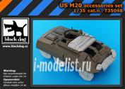 T35048 Black dog 1/35 US M 20 accessories set for Tamiya