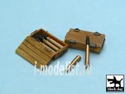 T48013 Black dog 1/48 Pz.Kpfw IV ammo boxes 10 boxes + ammo
