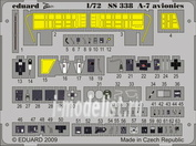 SS338 Eduard 1/72 Цветное фототравление для A-7 avionics