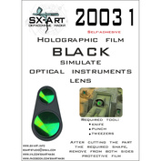 20031 SX-Art Holographic film for imitation of lenses of optical devices (black)