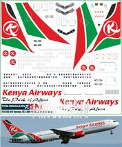 767300-06 PasDecals 1/144 Decal for Boing 767-300 Kenya Airways