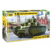 3667-1 Звезда 1/35 Советский тяжелый танк Т-35 + набор красок