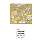 144213 Microdesign 1/144 Scales a Set of photo-etched parts for the model MS-21-300 from the Zvezda.