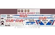 Т34-016 Ascensio 1/144 Декаль на самолет туплев-134А-3 (Кавкзские Минральные воды (KMV))