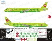 321-004 Ascensio 1/144 Декаль на самолет Arbus A321 (S7 arlines)