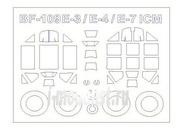 72089-1 KV Models 1/72 Набор окрасочных масок для Bf-109 E-3 / E-4 / E-7