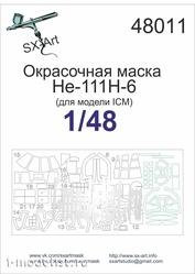 48011 SX-Art 1/48 Paint mask He-111H-6 (for ICM model)