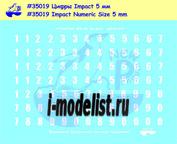 35019 New Penguin 1/35 Декаль Цифровая линейка Impact, высота 5 мм Для современной российской бронетехники