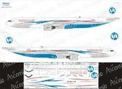 333-006 Ascensio 1/144 Декаль на самолёт Airbu A330-300 (Владивосток Авиа)