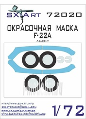 72020 SX-Art 1/72 Окрасочная маска F-22A (Academy)