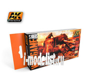 AK-1124 AK Interactive Набор акриловых красок GERMAN RED PRIMER SET (6 красок) (набор немецких красных грунтовок)
