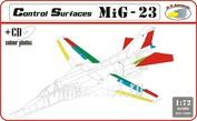RVD72006 R.V. AIRCRAFT 1/72 Control surface MiG-23