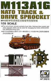 AF35S10 AFVClub 1/35 M113 AIG NATO Track (movable track link set injection moulded)