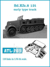 ATL-35-169 Friulmodel 1/35 Траки железные для Sd.Kfz. 8 12t Early type track