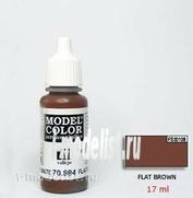 70984 Краска акриловая `Model Color Темно-коричневый/Flat brown