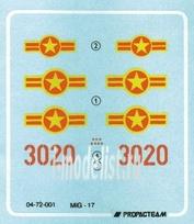 72005 Propagteam 1/72 MiG-17 - col. Tomba Vietnam