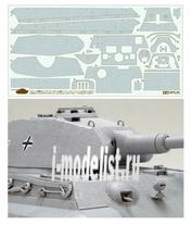 12649 Tamiya 1/35 Набор наклеек, имитирующих циммерит для танка King Tiger (для 35169)