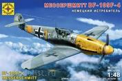 204811 Моделист 1/48 Немецкий истребитель Мессершмитт BF-109F-4